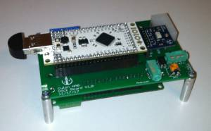 Dock configured with IOIO and Relay Shield.