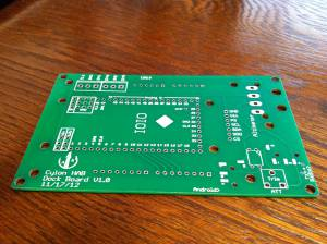 Bare dock board before populating with components.